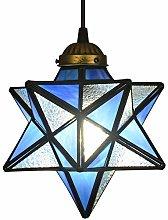 ZHANGYY Yellow Glass Moravian Star Pendant