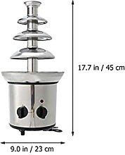 ZHANGZHI Mini 4 Tiers Chocolate Fountain Stainless