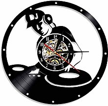 ZhaoCJB DJ Mixer Vintage Vinyl Record Clock