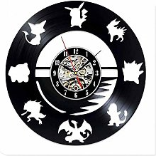 ZhaoCJB Pokemon Modern Design Vinyl Wall Clock