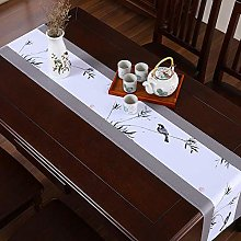 ZHAOXIANGXIANG Table Runner,Chinese Style Gray