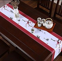 ZHAOXIANGXIANG Table Runner,Chinese Style Red Plum