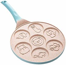 ZHAOZC Home Kitchen Breakfast Omelette Pan, 7-Hole