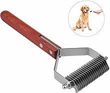 ZHBD Pet Cat Dog Comb Non-slip Wooden Handle Pet