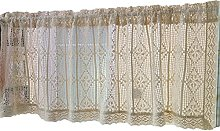 ZHDWM Hollow out Embroidery short curtain panels