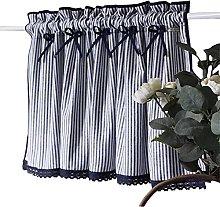 ZHDWM Minimalist Style Stripe short curtain panels