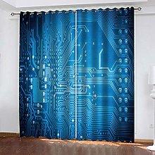 ZHDXDP 3D Print Curtain Blue Board Print 3D Art