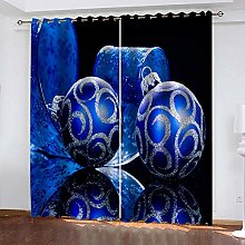 ZHDXDP Blackout Curtains For Bedroom Blue Hanging