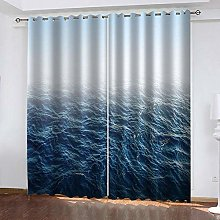ZHDXDP Curtains For Living Room 2 Panels Set