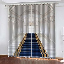 ZHDXDP Curtains For Living Room Blue Carpet