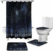ZHEBEI Bathroom waterproof shower curtain cushion