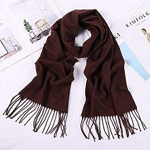 ZHEBEI Grey men's scarf men's scarf black