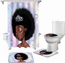ZHEBEI Shower curtain toilet seat cover accessory