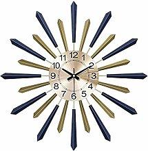 zhenao 3D Sunburst Silent Wall Clock,Metal Dial