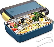 ZHENAO 4 Compartment Bento Lunch Box Stainless
