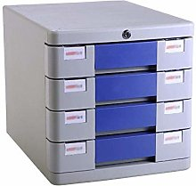 ZHENAO 4-Drawers Desk Organiser Compartments File