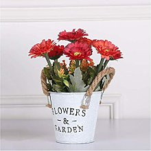 ZHENAO Artificial Flowers Plants with Pot Small