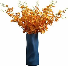 ZHENAO Artificial Hydrangea Light Cabinet Vase