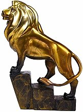 ZHENAO Artwork Lion Statue Decoration, Bronze Lion