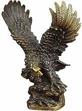 ZHENAO Artworkdecorative Eagle Statue, Bronze