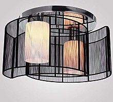ZHENAO Brushed Fabric Chandelier Ceiling with a 2
