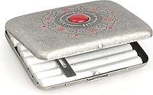 ZHENAO Cigarette Case Box Metal for 16 Cigarettes
