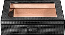 ZHENAO Classic Cigar Box with Digital Hygrometer