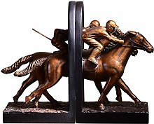 ZHENAO Decorations Horse Bookend Statue, Art