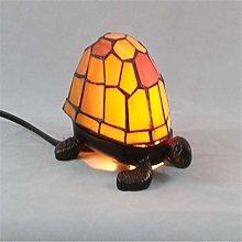 ZHENAO Desk Lamp Glass Tortoise Design Table Lamp