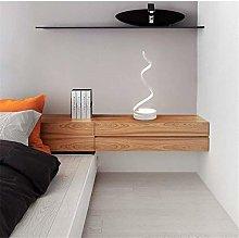 ZHENAO Desk Lamp Led Art Curve Model Contemporary