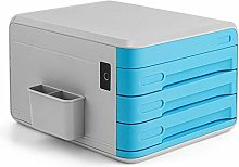 ZHENAO Desktop Safe Blue Desktop File Cabinet
