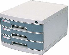 ZHENAO Drawer Set Office Desk Three-Layer Plastic
