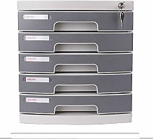 ZHENAO File Cabinet Assembled 5-Drawer Mobile File