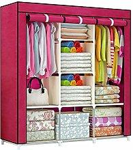 ZHENAO Folding Wardrobe Fabric Wardrobe Garderobe