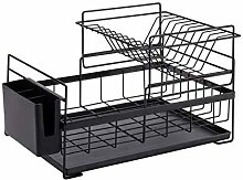 ZHENAO Kitchen Storage Cabinet, Dish Drain Rack,