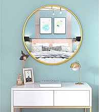 ZHENAO Large Round Wall Mirror Gold Framed Mirror