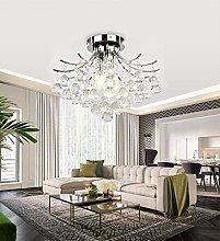 ZHENAO Led Crystal Light Modern Chandelier Flush