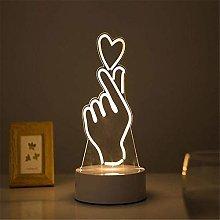 ZHENAO Led Desk Lamp 3D Stereoscopic Effect
