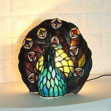 ZHENAO Led Desk Lamp Living Room Bedroom Glass