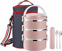 ZHENAO Lunch Box Bento Box Stackable Stainless