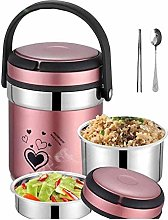 ZHENAO Lunchbox,Thermal Lunch Box Stainless Steel