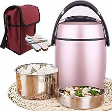 ZHENAO Lunchbox,Three-Layer Vacuum Soup Container,