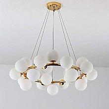 ZHENAO Modern Led Ball 25 Light Source White/Gold