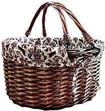 ZHENAO Outdoor Picnic Basket Bottle Holder Basket