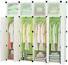 ZHENAO Portable Double Wardrobes DIY Hanging