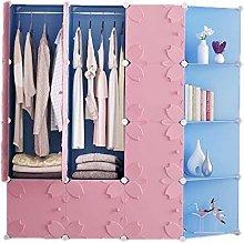 ZHENAO Portable Wardrobe Bedroom Storage Kids