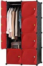 ZHENAO Portable Wardrobe Clothes Holding Cabinet