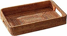 ZHENAO Restaurant Bread Basket Rattan Storage