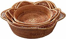 ZHENAO Restaurant Fruit Storage Hamper Wicker