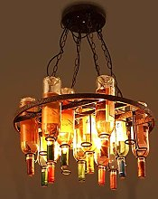 ZHENAO Retro Bar Cafe Industrial Style Chandelier